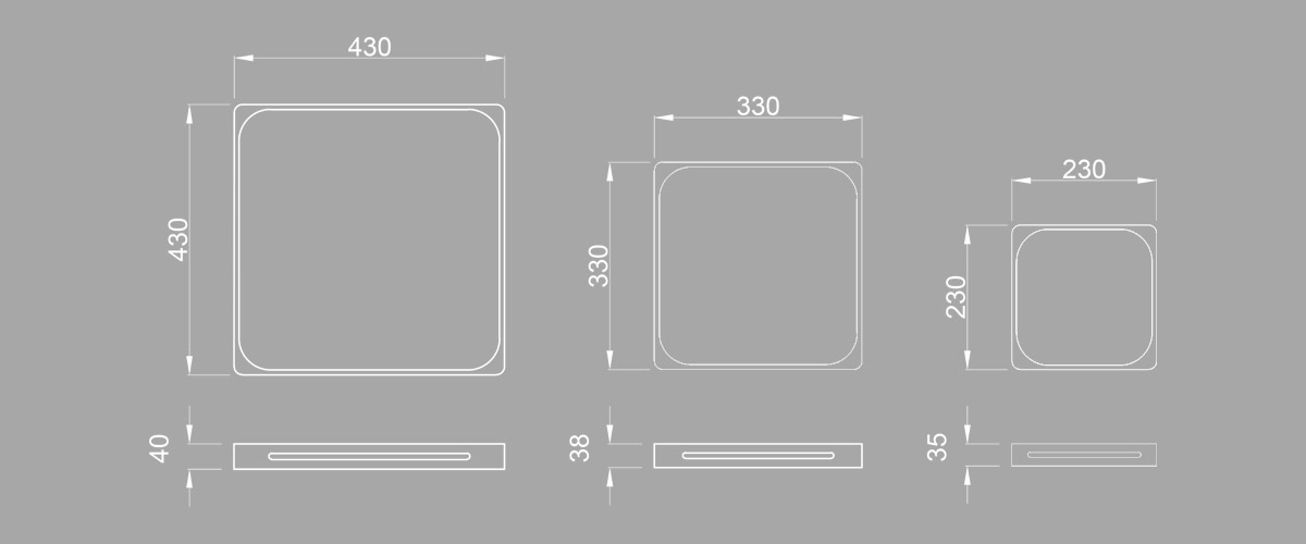 Square Tray - Sizes